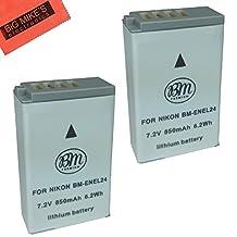 2-Pack of EN-EL24 Batteries for Nikon 1 J5, DL18-50, DL24-85 Digital Camera