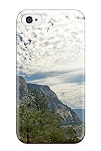 Rugged Skin Case Cover For Iphone 4/4s- Eco-friendly Packaging(mountain)