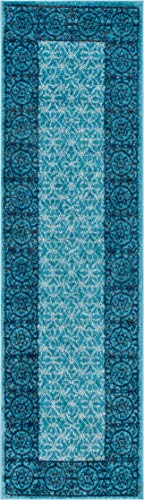Cheap  Well Woven Casa Tuscany Light Blue & Grey Modern Classic Mediterranean Tile..