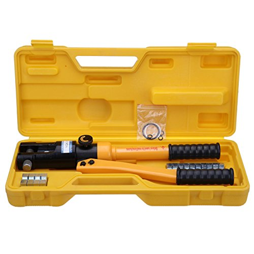 iglobalbuy 12 ton industry hydraulic crimper 8 die 10mm 120mm plier cable crimping tool kit. Black Bedroom Furniture Sets. Home Design Ideas