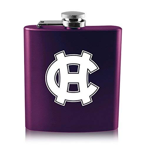 College of the Holy Cross-6 oz. Color Stainless Steel Flask-Purple