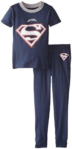 DC Comics Toddler 'Superman Football Bowl' Cotton Snug Pajama, Navy, 4T