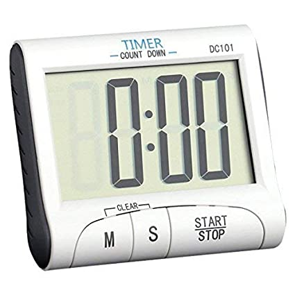 Buy Baskety Digital Kitchen Timer Stopwatch Large Digits Loud Alarm Magnetic Stand White Dc101 Online At Low Prices In India Amazon In
