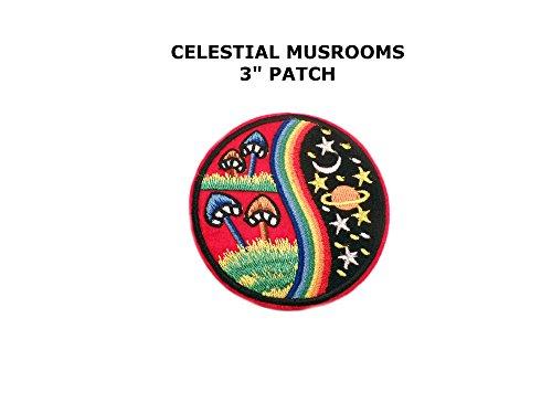 Mushroom Rainbow Yin Yang Blue Nature World Galaxy DIY Embroidered Sew Iron on - Australia Head Gucci Office