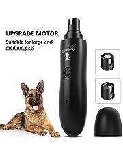 Pecute krallenschleifer für Große Hunde und Katzen 50 Dezibel super-leise Lärm, Zwei-Gang-Schaltung mit Superkraft-Geschwindigkeit, USB-Anschluß,mit 2 Schleifköpfen(schwarz)