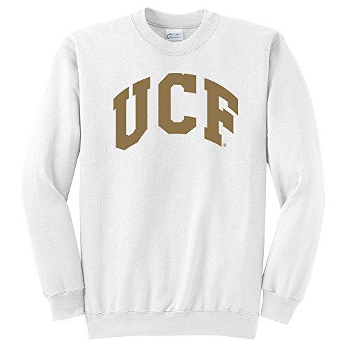 - Campus Merchandise NCAA Central Florida Golden Knights Arch Classic Crewneck Sweatshirt, White, Large