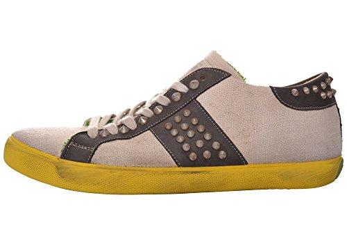 Leather Crown Herren Sneaker Bianco