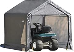 The ShelterLogic Shed-in-a-Box 6 x 6-foot outdoor storage shed has a small footprint and big value when space is at a premium. Made from an all-steel metal frame that is 1-3/8 inches, the Shed-in-a-Box is tough and durable. The metal frame is...