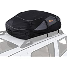 SPAuto Car Cargo Roof Bag - Waterproof Duty Car Roof Top Carrier - Easy to Install Soft Rooftop Luggage Carriers with Wide Straps - Folds Easy (20 Cubic Feet)