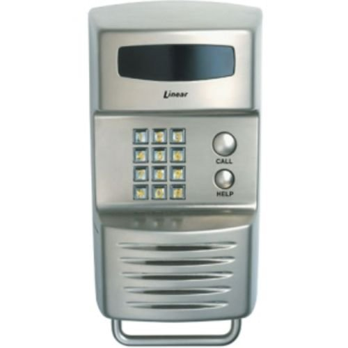 Linear Residential Telephone Entry Controller with 2 Relays, Pole Mount (Nickel Finish)