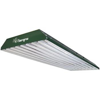 Evergreen 8 Lamp T5HO Fluorescent Grow Light w/ 6500K Lamps Installed
