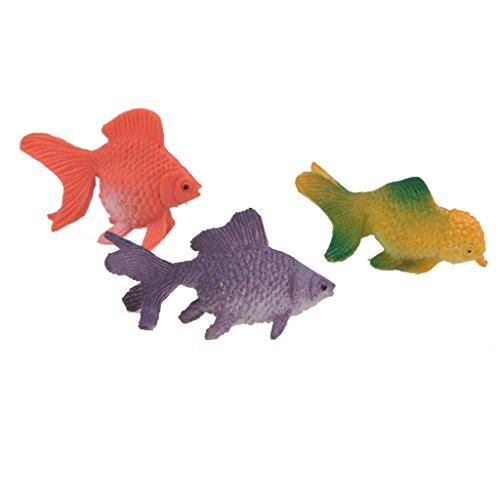 Lot de 12pcs mini poisson rouge en plastique figurine for Poisson rouge plastique