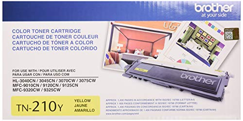 (Brother Genuine TN210Y Color Laser Yellow Toner Cartridge)