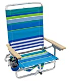 Rio Beach Classic 5 Position Lay Flat Folding Backpack Beach Chair - More Than A Blue Stripe