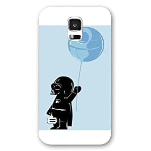 UniqueBox - Customized Personalized White Frosted Samsung Galaxy S5 Case, Star Wars Samsung Galaxy S5 case, Star Wars Han Solo, Death Star, Darth Vader, Logo Samsung Galaxy S5 case, Only fit Samsung Galaxy S5