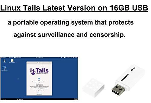 Linux Tails Veilig besturingssysteem Anoniem browsen op opstartbare USB.