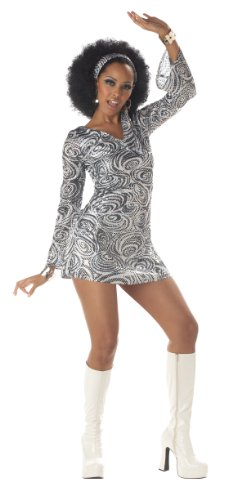 California Costumes Women's Disco Diva Costume, As Shown, Medium (8-10) - Disco Outfit