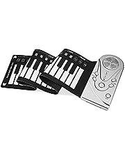 Big Bargain Store Faltbares Hand Roll Piano Roll Up Kleines und leichtes Klavier Faltbare Musikinstrumente Hand Roll Piano 49 Tasten Tastatur Soft Portable E-Piano black 73×17.1×0.3cm