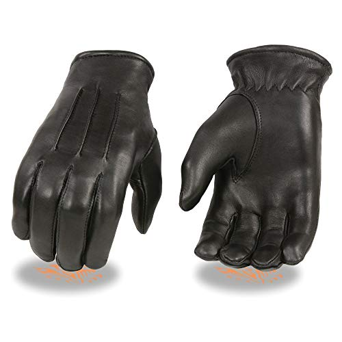 Milwaukee Leather Men's Welted Deerskin Thermal Lined Gloves (Black, X-Large)