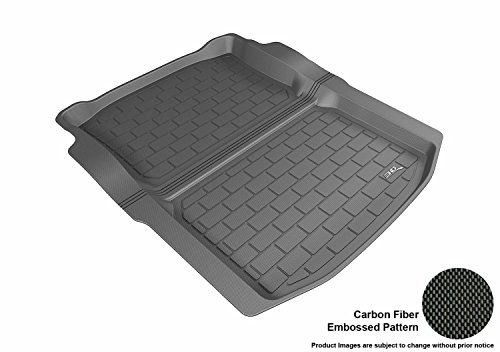 3D MAXpider Cargo Custom Fit All-Weather Floor Mat for Select Cadillac CTS RWD Sedan Models - Kagu Rubber (Black) ()