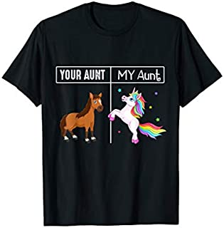 Birthday Gift Your Aunt - My Aunt Unicorn Aunt Tee s Short and Long Sleeve Shirt/Hoodie