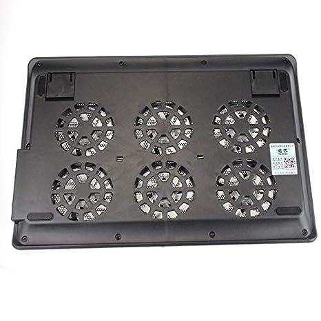 CAOQAO - Refrigerador de PC portátil con 6 Ventiladores y ...