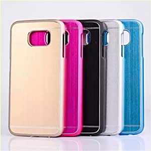 HJZ High Quality Brushed Aluminum Hard Back Case for Samsung Galaxy S6(Assorted Colors) , Golden