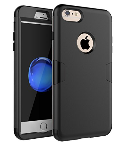 iPhone 6 Plus Case, iPhone 6s Plus Case,TOPSKY Three Layer Heavy Duty High Impact Resistant Hybrid Protective Cover Case for iPhone 6 Plus and iPhone 6s Plus (Only for 5.5), Black