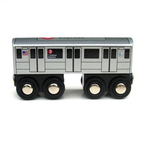 Munipals Wooden Railway NYC Subway Car 3 Train
