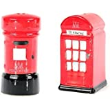 Ceramic Post & Telephone Box Salt & Pepper Pot Gift Set London Souvenir