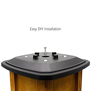 Davinci Solar Post Lights - Outdoor Post Cap Light for Fence Deck or Patio - Solar Powered Caps, Warm White LED Lighting, Lamp Fits 4x4 or 6x6 Posts, Slate Black (2 pack)