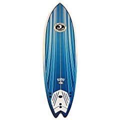 California Board Company soft-top 6'2 inch fish high density EPS foam SURFBOARD. It features: heat laminated high density 100% waterproof EPS core, custom molded shape 3 multi-layered (molded-in) laminated wood stringers coated with waterproo...