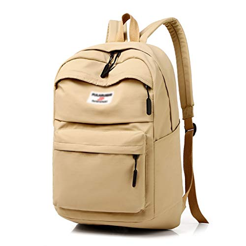 JQHLJBJBB 14 inch, 15 inch, 15.6 inch Large Capacity Suitcase Notebook Shoulder Computer Bag, Fashion Backpack Campus Student Bag (Color : Brass, Size : 14inches)