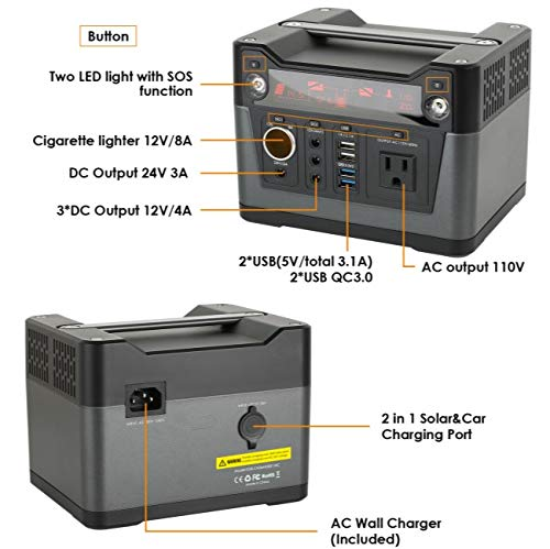 Amazon.com: Zonex 300W Portable Generator 288WH / 79200mAh ...