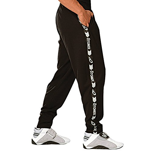 (Otomix Men's Signature Stripe Baggy Workout Pants Black (Medium))