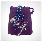Nazareth Store Deep Blue Crystal Beads Rosary