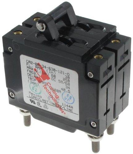 CA2-B0-34-630-121-D-Magnetic Hydraulic Circuit Breaker, C Series, 30 A, 2 Pole, 480 V, 20 s, 5 kA
