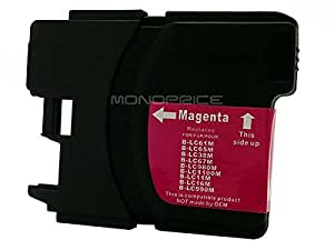 Monoprice 109613 MPI Compatible with Brother LC61/65M Inkjet, Magenta (High Yield)