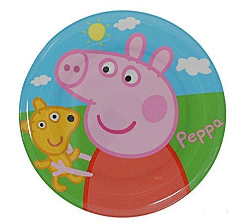 Set of 6 Peppa Pig Melamine Plates 8'' Diameter (20cm) by BWR (Image #2)