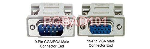 Dual Way RGB DB 9-Pin To HD 15-Pin VGA Adapter For CGA EGA Type Signals