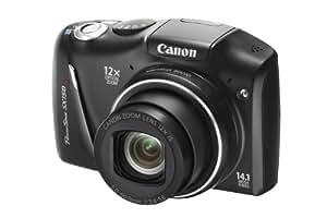 """Canon PowerShot SX150IS - Cámara compacta de 14.1 Mp (pantalla de 3"""", zoom óptico 12x, estabilizador de imagen ) color negro"""