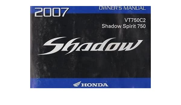 honda shadow owner manual