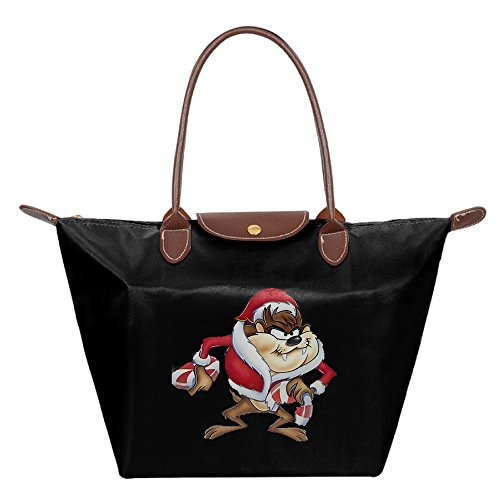 Roadrunner And Wile E Coyote Costume (Christmas Taz In A Santa Costume Trendy Women's Shoulder Bags Casual Handbag Canvas Bags Tote)