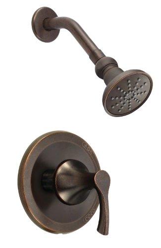Danze D500522BRT Antioch Single Handle Shower Trim Kit, 2.5 GPM, Valve Not Included, Tumbled Bronze