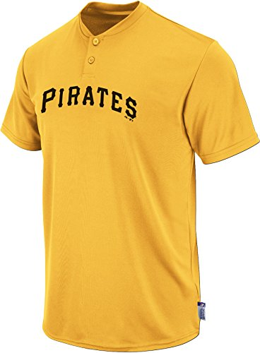 (Majestic Two Button Pittsburgh Pirates Cool Base Throwback Medium Youth Jersey)