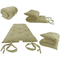 Brand New Tan Traditional Japanese Floor Futon Mattresses, Foldable Cushion Mats, Yoga, Meditaion.