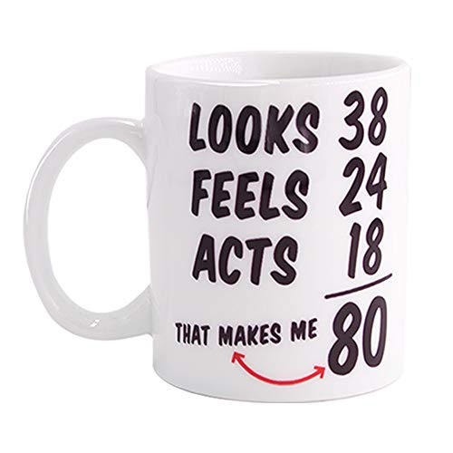 Funny 1938 80th Birthday Gifts Ideas Mug for Men and Women Best Novelty Ceramic Coffee Mugs Anniversary or Christmas Unique Gift Idea for Him, Her, Husband or Wife - 80 Year Old Presents for Mom, Dad -