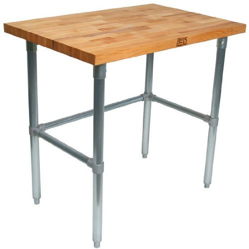 Superbe Amazon.com: John Boos Oil Finish Maple Top Work Table With Galvanized Base  And Bracing, 60 X 36 X 1.5 Inch   1 Each.: Kitchen U0026 Dining