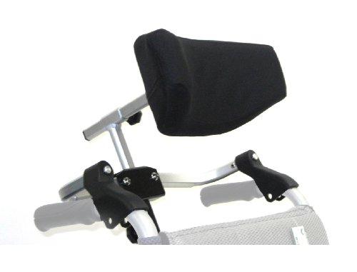 Folding Head - Karman Universal Folding Headrest for Wheelchair, Arctic Silver, Medium, 16-18 Inch