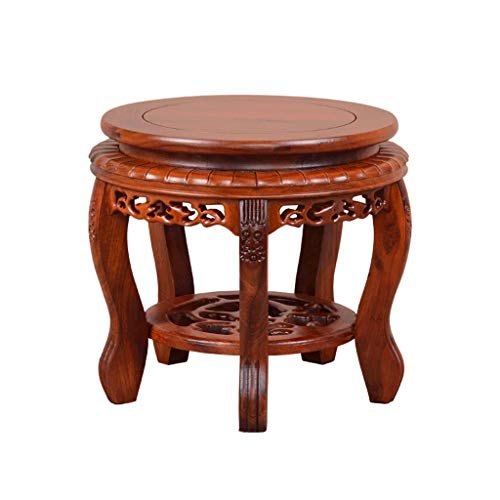 que Sofa Tea Table Chinese Carved Living Room Solid Wood Stool ()